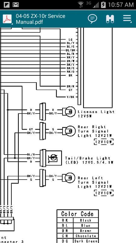 Gen 4: 2011-2015 - tail light connector wiring help | Kawasaki ZX-10R ForumZX-10R.net