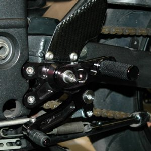 Cycle Cat Black Rear Sets with Carbon Fibre Heel Guards