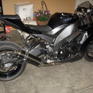 08 Zx10r Stretch Lowered With Carbon Pipe