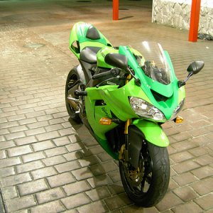 Clear Windshield On 2005 Kawasaki Zx-10r View Look