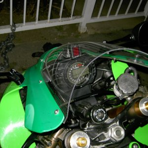 Clear Windshield On 2005 Zx-10r